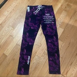 Other - FLORAL SLIM STRAIGHT JEANS